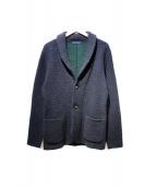 LARDINI(ラルディーニ)の古着「ウールテーラードジャケット」 グリーン