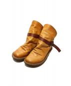 Trippen(トリッペン)の古着「レザーショートブーツ」|ブラウン