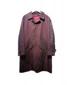 The FRANKLIN TAILORED(フランクリンテーラード)の古着「ライナー付ステンカラーコート」|レッド