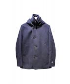 ORCIVAL(オーチバル)の古着「メルトンシングルフードPコート」
