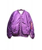ALPHA × UNDEFEATED(アルファ × アンディフィーテッド)の古着「MA-1ジャケット」