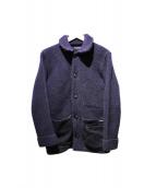 BLUE BLUE(ブルーブルー)の古着「ニットジャケット」|ネイビー