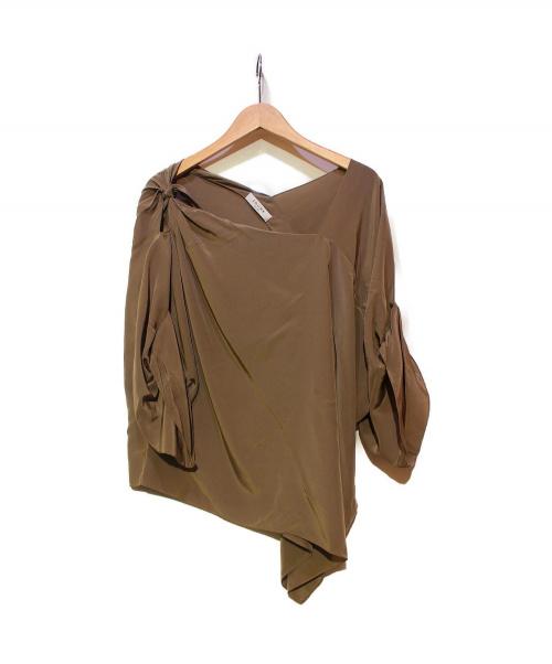 ADORE(アドーア)ADORE (アドーア) アシンメトリーブラウス ブラウン サイズ:M 未使用品 531-110138 参考上代25,000円程度の古着・服飾アイテム