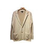 LARDINI(ラルディーニ)の古着「コットンパイルストライプ2Bテーラードジャケット」
