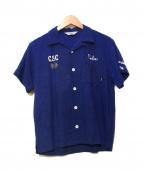 CALEE(キャリー)の古着「オープンカラーシャツ」|ネイビー