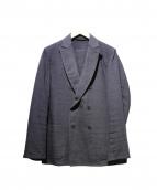 COMOLI(コモリ)の古着「タイプライターWブレストジャケット」|ネイビー
