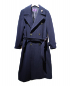 RALPH LAUREN PurpleLabel(ラルフローレンパープルラベル)の古着「ウールロングコート」 ネイビー
