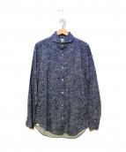 Finamore(フィナモレ)の古着「カッタウェイシャツ」 ブルー