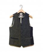 Harris Tweed × BEAUTY&YOUTH(ハリスツイード × ビューティーアンドユース)の古着「ジレ」|グレー