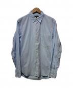 COMME des GARCONS HommePlus(コムデギャルソンオムプリュス)の古着「ストライプシャツ」|ホワイト×ブルー
