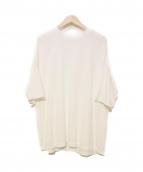 AURALEE(オーラリー)の古着「ソフトコードビッグTシャツ」|ホワイト