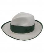 Borsalino(ボルサリーノ)の古着「ペーパーハット」|ホワイト×グリーン