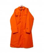 AURALEE(オーラリー)の古着「クロスバッティングロングコート」|オレンジ
