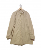 STEVEN ALAN(スティーブンアラン)の古着「ステンカラーコート」|ベージュ