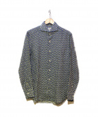 giannetto(ジャンネット)の古着「総柄シャツ」|グリーン×ブルー