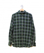 GUY ROVER(ギローバ)の古着「リネンシャツ」|グリーン