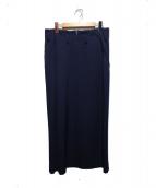 Yohji Yamamoto(ヤマモトヨウジ)の古着「ロングデザインスカート」|ネイビー