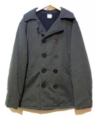 POST OALLS(ポストオーバーオールズ)の古着「Pコート」 グレー