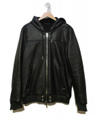 DIESEL(ディーゼル)の古着「シープスキンレザージャケット」|ブラック