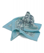 HERMES(エルメス)の古着「プチスカーフ」|ブルー