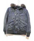 LOUNGE LIZARD(ラウンジリザード)の古着「N-3Bタイプジャケット」|ブラック