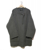 UNUSED(アンユーズド)の古着「ウールノーカラーストラップコート」 グレー
