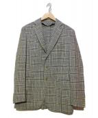 BOGLIOLI(ボリオリ)の古着「テーラードジャケット」 ブルー×グリーン