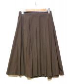 MARGARET HOWELL(マーガレットハウエル)の古着「フレアスカート」|ブラウン