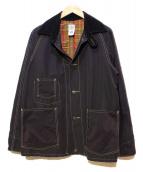 POST OALLS(ポストオーバーオールズ)の古着「カバーオール」|ブラック