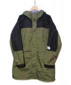 THE NORTH FACE(ザノースフェイス)の古着「マウンテンレインテックスコート」 グリーン×ブラック