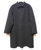 BEAUTY&YOUTH(ビューティアンドユース)の古着「リバーチェックバルカラーコート」 グレー