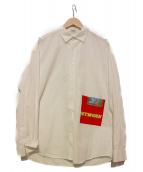 Mr.GENTLEMAN(ミスタージェントルマン)の古着「プリントシャツ」|ホワイト