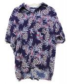 URU(ウル)の古着「PINEAPPLE SHIRT」|パープル×ブルー