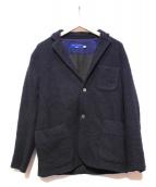 CURLY(カーリー)の古着「ニットテーラードジャケット」 ネイビー