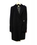 ANN DEMEULEMEESTER(アンドゥムルメステール)の古着「ウールコート」 ブラック