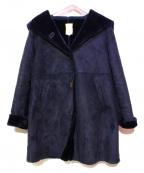 khaju(カージュ)の古着「フェイクムートンコート」|ネイビー