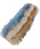 GRACE CONTINENTAL(グレースコンチネンタル)の古着「フォックスファーティペット」|ブルー×ブラウン