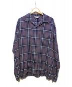 UNUSED(アンユーズド)の古着「レーヨンシャツ」 ネイビー