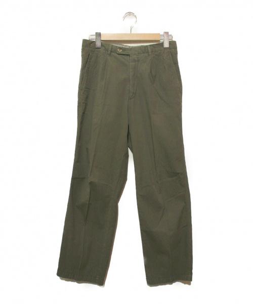 VIGANO(ヴィガーノ)VIGANO (ヴィガーノ) センタープレスパンツ カーキ サイズ:44の古着・服飾アイテム