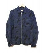 OUR LEGACY(アワーレガシー)の古着「リネンコーチジャケット」|ネイビー×ブラック
