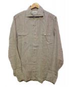 giannetto(ジャンネット)の古着「リネンシャツ」|グレー