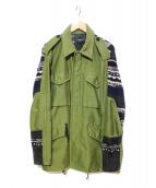 3.1 phillip lim(スリーワン フィリップ リム)の古着「切替ミリタリージャケット」|グリーン×ブラック
