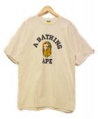 A BATHING APE(アベイシングエイプ)の古着「カラーカモゴリラプリントTシャツ」|ホワイト