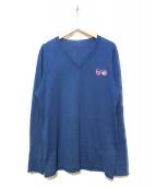 lucien pellat-finet(ルシアン・ペラフィネ)の古着「カシミヤ混ニット」|ネイビー