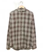 GUY ROVER(ギローバ)の古着「長袖シャツ」|ブラウン×グレー