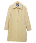 BURBERRY BLUE LABEL(バーバリーブルーレーベル)の古着「アンゴラ混コート」|ホワイト
