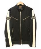 VANSON(バンソン)の古着「ジップアップジャケット」 ブラック