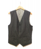 TMT(ティーエムティー)の古着「フランネルテーラードベスト」|グレー