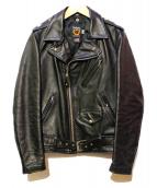 SCHOTT BROS.(ショットブロス)の古着「4スターダブルライダースジャケット」|ブラック