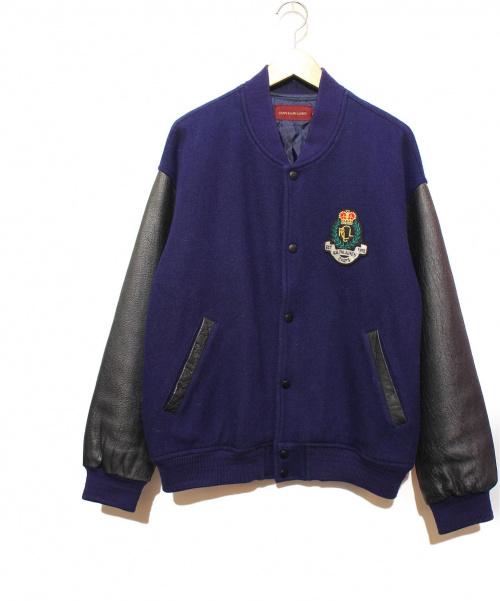 RALPH LAUREN(ラルフローレン)RALPH LAUREN (ラルフローレン) バックフロッキーロゴスタジャン ネイビー サイズ:Lの古着・服飾アイテム